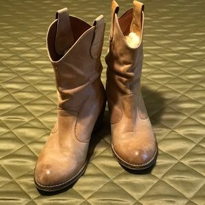 ALDO short leather boots